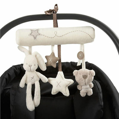Baby Hanging Bell Stroller Toy Rattles Plush Doll Bed Animal Infant Soft Play