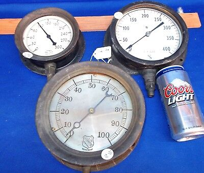 12 ~ Opportunity Lot - 3 Steam Gauges, One for Parts