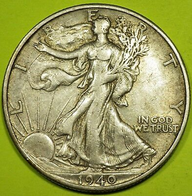 1940-S Walking Liberty Half Dollar grading AU