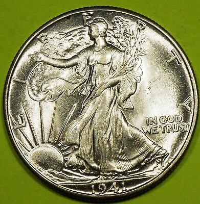 1941 Walking Liberty Half Dollar grading just a rub away from BU