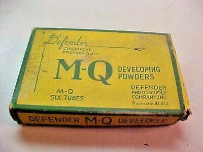 Antique  Box's Eastman Developing Powders, Special Developer &  MQ
