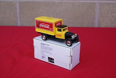 1930's COCA-COLA YELLOW CHEVROLET DELIVERY TRUCK BANK New in Box