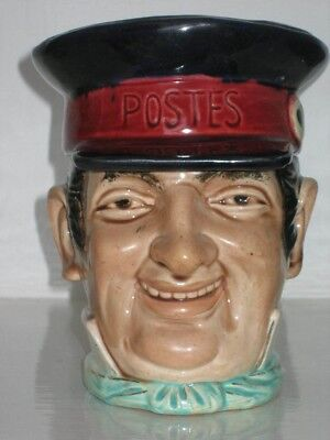 Large Ceramic 'french Postes' Tobacco Jar - Late 19Th Century