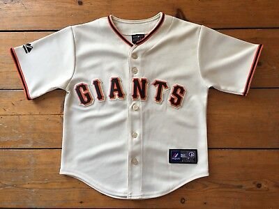 Child's San Francisco Giants Baseball Top/Jersey MLB Majestic - Large (7yrs)