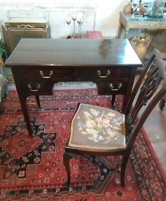 Antique Victorian Lowboy Desk And Chair