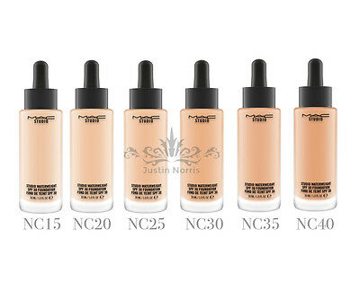 MAC Studio Waterweight SPF30 Foundation. ALL SHADES. Full Size 30ML. Brand New