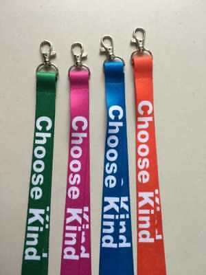 Custom printed personalised lanyard 20mmW neck strap your Logo message ID Holder
