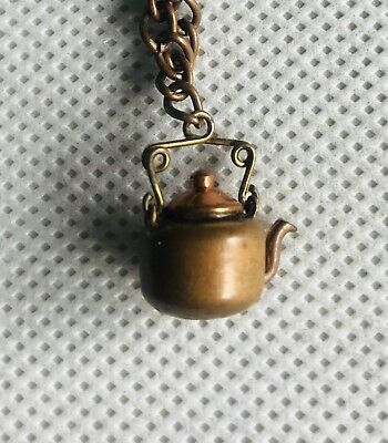 Vintage Miniature Copper Teapot Tea Kettle Made From  A Penny? Coin Art Hobo