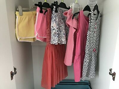 Bundle Of Summer Girls Clothes Aged 6-7 Next, F And F And Asda