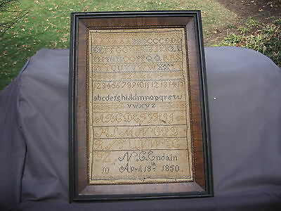 Antique Early 19th Century Sampler Dated 1850