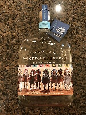 Woodford Reserve Kentucky Derby 2018 144 collectible artist bottle bourbon rare!