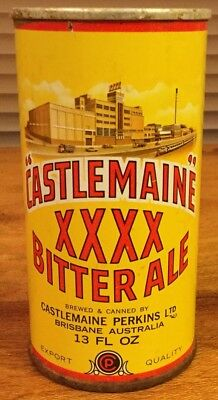 Castlemaine XXXX Bitter Ale.13FL.OZ. Ring Pull.Steel.  Beer Can. x 1
