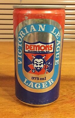 """Coopers. Victorian League Lager 375ml. VFL. """"Melbourne Demons"""" Beer Can  x 1"""