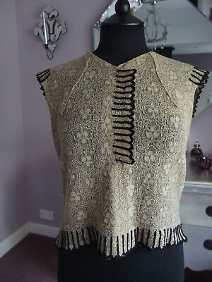 vintage antique 1930s blouse embroidery detail lace