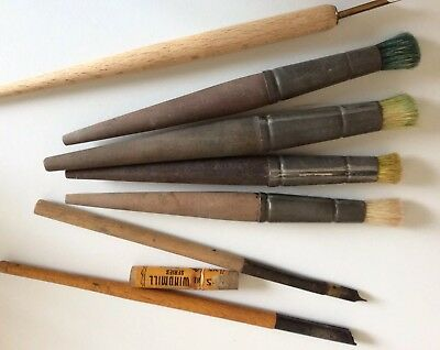 Vintage Antique Paint Brush Pens leads BLACKLEAD REFILLS WINDMILL SERIES.PERRY