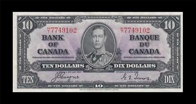 1937 BANK OF CANADA KGVI $10 **Coyne & Towers** (( aUNC ))
