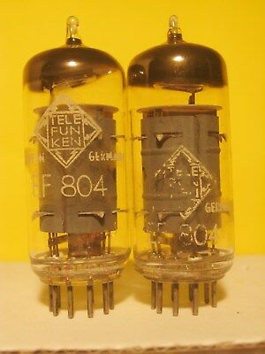 2 x EF804 Telefunken - long plate - <> on bottom
