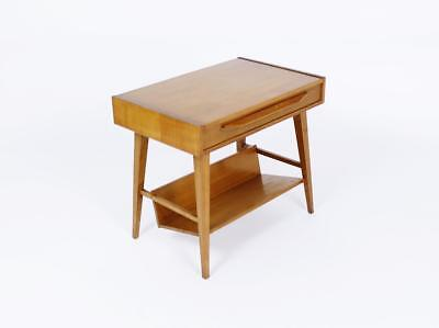Vintage Mid Century Swiss  Design Pago Accent/side Table With Drawer