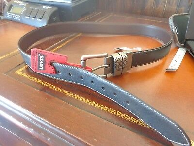 NEW Boys Size Large Syn Leather Levi's belt 30 - 32 NWT black brown reversible