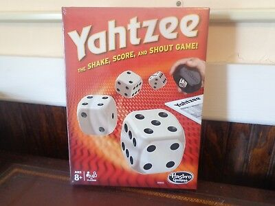 Yahtzee Board Game NEW Hasbro ages 8+ Game 80 score cards 5 dice shaker guide bk