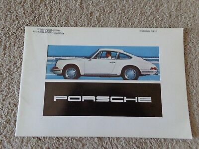 1968 Porsche 911 912 DELUXE Sales Folder Dealer Brochure Owners Manual Excellent