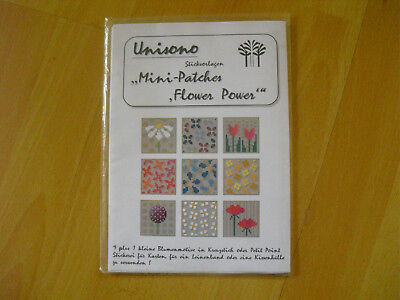 "Stickvorlage Unisono ""Mini-Patches Flower Power"""