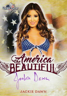 Jackie Dawn Autogramm Benchwarmer America the Beautiful 2017 Pink Foil
