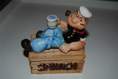 VTG 1990 Popeye Spinach Pipe Ceramic Box King Features Syndicate, INC. JAPAN