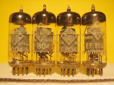 4 x EF804S Telefunken - grey plate - <> on bottom