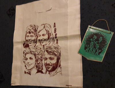 Vintage ABBA Bag and Flag from 70's years
