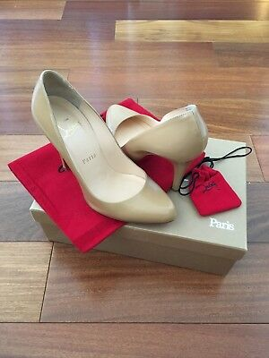 60b483286f46 Authentic Christian Louboutin 36 Decollete 868 100mm Jazz Calf
