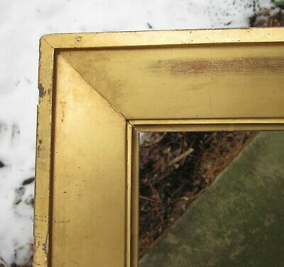 c1840 Beautiful Early American Sully Style Wide Gilded Antique 10 x 12 Folk Frme