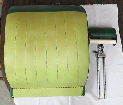 Vintage Koken Barber Chair Back Cushion and Head Rest President(?) Green