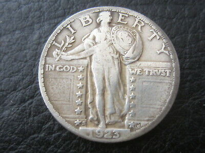 1923-S 25C Standing Liberty Quarter  Strong Date