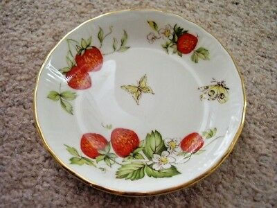 Collectable Queens china porcelain small dish,Virginia Strawberry