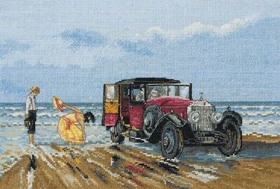 "ANCHOR  ""VINTAGE ROLLS ON THE BEACH""CROSS STITCH KIT  Kreuzstich-Stickpackung"