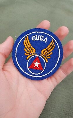 WWII US Army Air Force Cuba Cuban Air Force pilot felt patch