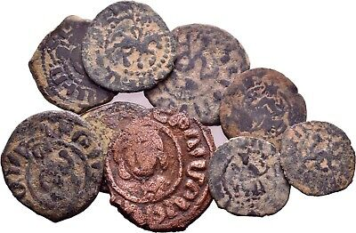 Cilician Crusaders Armenia. Lot of 9 Very Quality Copper kardez and poghs!!!!