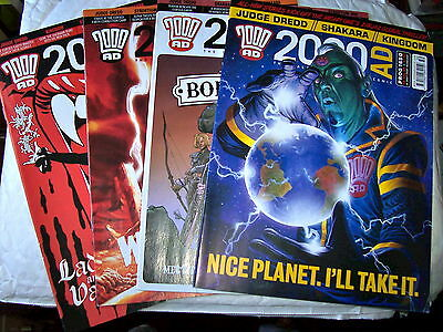 2000Ad Back Progs 1600-1699  Ex Shop Stock Unread Mint Condition Judge Dredd