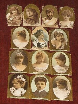 """1880's N342 BETWEEN THE ACTS """"ACTORS & ACTRESSES"""" - LOT OF 13 W/ LILLIAN RUSSELL"""