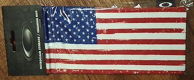 Oakley American Flag USA Sunglasses Glasses Case Cleaning Cloth Limited Bag NEW