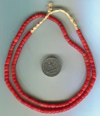 African Trade beads Vintage Venetian glass old red glass beads
