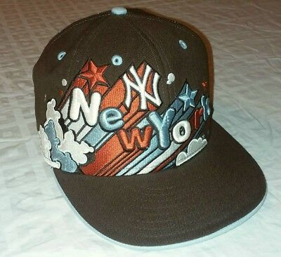 1023572e9f6 ULTRA RARE SAMPLE New York Yankees New Era Baseball Hat Cap Men s Size 7 1