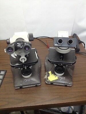 Lot of 2 Nikon Labophot-2  Microscopes for Parts or Repair