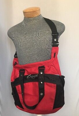 New Capezio B30 Red w/black Canvas Convertible Tote  Dance Bag Zipper Closure