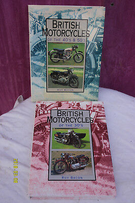2 -British Motorcycle Books. 1930 & 1940/50's, by Roy Bacon.