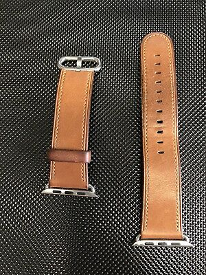 Genuine Original Apple Watch Band Saddle Brown Classic Buckle 42mm (1st version)