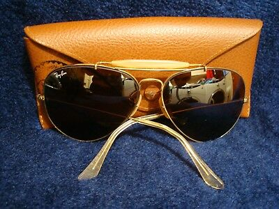Ray Ban B & L Aviator Sunglasses Large with rayban case ! LOOK! Read