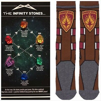 Loot Crate Guardians of the Galaxy Socks & Infinity Stones & Guide Thanos