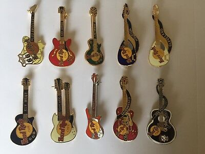Lot of 10 Hard Rock Cafe Pins